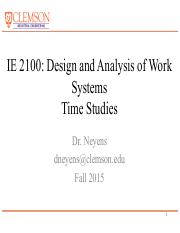 IE2100 Lecture 19-20 Time Study_2015.pdf