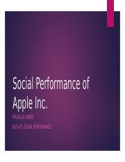 Social Performance of Apple Inc.pptx