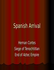 Spanish Arrival.ppt