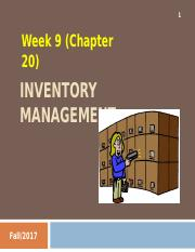 Week 9 - Inventory Management.ppt