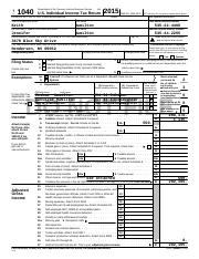 Keith and Jennifer Hamilton 2015 Federal Form 1040