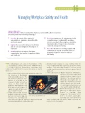 Chapter 16 Managing Workplace Safety and Health