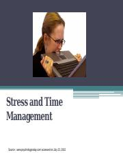 6.stress and time mgmt and meditation