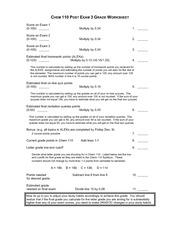 Grade Worksheet FA2011