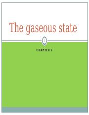 chapter 5 - The gaseous state