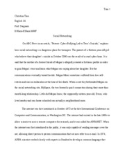 English 1A - Essay #5 Introduction