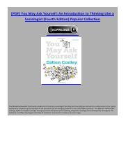 you may ask yourself dalton conley 4th edition pdf