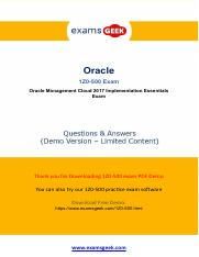 Oracle 1Z0-500 Exam Study Tips And Information