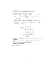 Solutions to Extra Problems 3 a