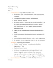 Art History 2nd Notes Set