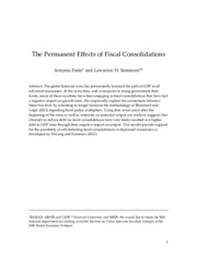 The Permanent Effects of Fiscal Consolidations