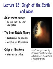 L12- origin of earth and moon