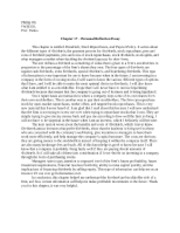 PHILLIP OH Chapter 17 Personal Essay