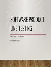 SOFTWARE PRODUCT LINE TESTING.pptx