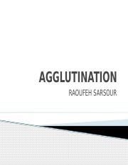 AGGLUTINATION RS