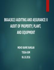 BKAA3023 Topic 6 Property, Plant and Equipment (1)