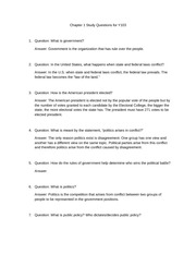 Chapter 1 Study Questions for Y103