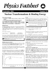 Nuclear transformations and binding energy