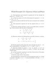 Worked Examples (12.5)