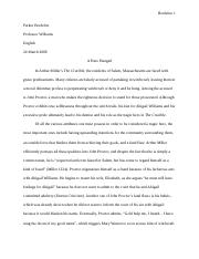 Science And Technology Essay  Pages Crucible Essay Final Draft Essay Papers Examples also Example Essay Thesis Statement Thecruciblemarytylerpdf  Mary Tyler Mrs Digavero John Proctor Is  Classification Essay Thesis Statement