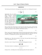 Rotational Motion Addendum