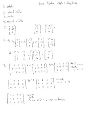 Linear Algebra Chapter 1 Study Guide Solutions
