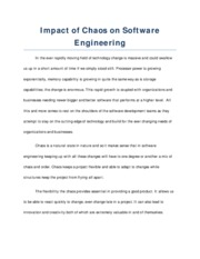 Impact of Chaos on Software Engineering