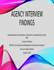 Agency Interview findings.pptx