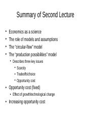 Summary of Second Lecture.ppt