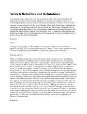 Week 6 Rebuttals and Refutations 3.6.docx