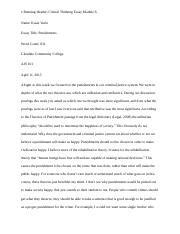 English 101 Essay  Pages Critical Thinking Essay Module Docx Science And Technology Essays also How To Write A Thesis Sentence For An Essay Critical Thinking Essay Module  Ajs   Critical Thinking Essay  National Honor Society High School Essay