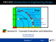 Session 8 - Concept Evaluation