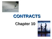 Ch. 10 Contracts