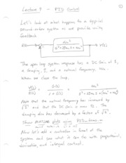 Lecture 09 PID Control