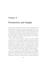 Chapter 8 - Production Basics