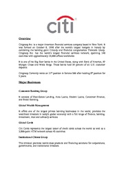Citigroup assignment