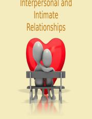 Lec.7 - Interpersonal and intimate relationships