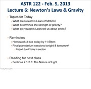 6 newton's law and gravity