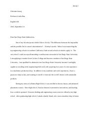 ENG100 Cover Letter ESSAY1