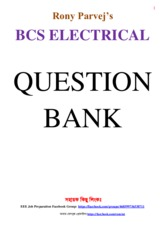 BCS Electrical (34th to 25th) Question by Rony Parvej updated