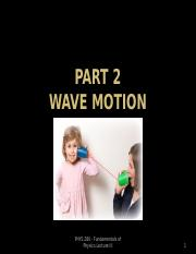 PHYS 280 - Wave Motion