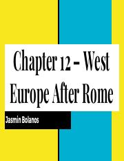 Chapter 12 – West Europe After Rome