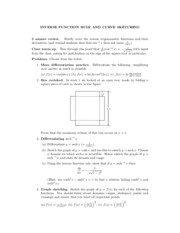 Inverse Function Rule