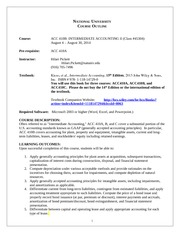 ACC410B Course Outline August 2014