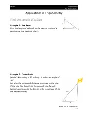 Applications in Trigonometry