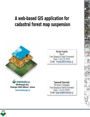 WEB BASED GIS APPLICATION FOR CADASTLE FOREST MAP SUSPENSION