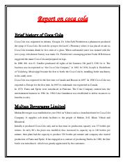 Operational Management Report on CoCa Cola.pdf