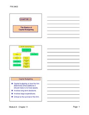 Chapter 11 - Lecture Notes from PowerPoint