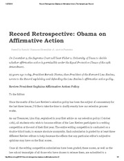 Record Retrospective_ Obama on Affirmative Action _ The Harvard Law Record
