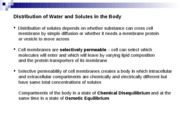 Lecture 6 - Solute and Water Movement Across  Membranes Spring 08